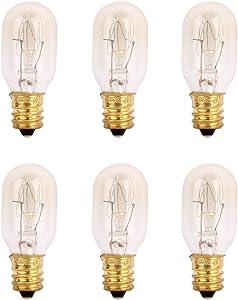 TGS Gems 6 Pack Himalayan Salt Lamp 25 Watt Original Replacement Candelebra Light Incandescent Bulbs E12 Socket