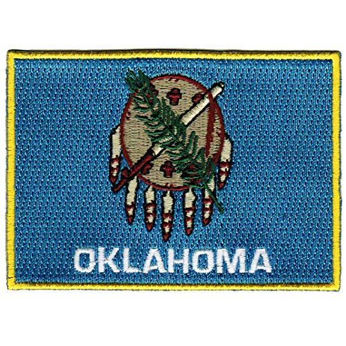 Oklahoma State Flag Embroidered Patch Iron-On OK Emblem