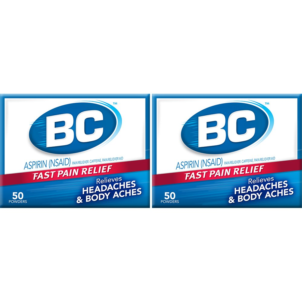 BC 50 Powders Aspirin Fast Pain Relief Powder | 2 Count