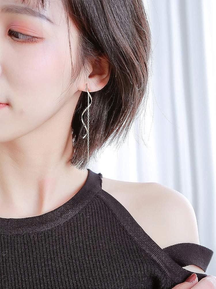 LSDAMW Earrings For Women Drop Dangle Girls Simple Exaggerated Big Earrings Earrings Ring Earrings