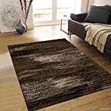 Allstar 8 X 10 Chocolate Exclusive Modern Brush Streak Design Area Rug (7' 10