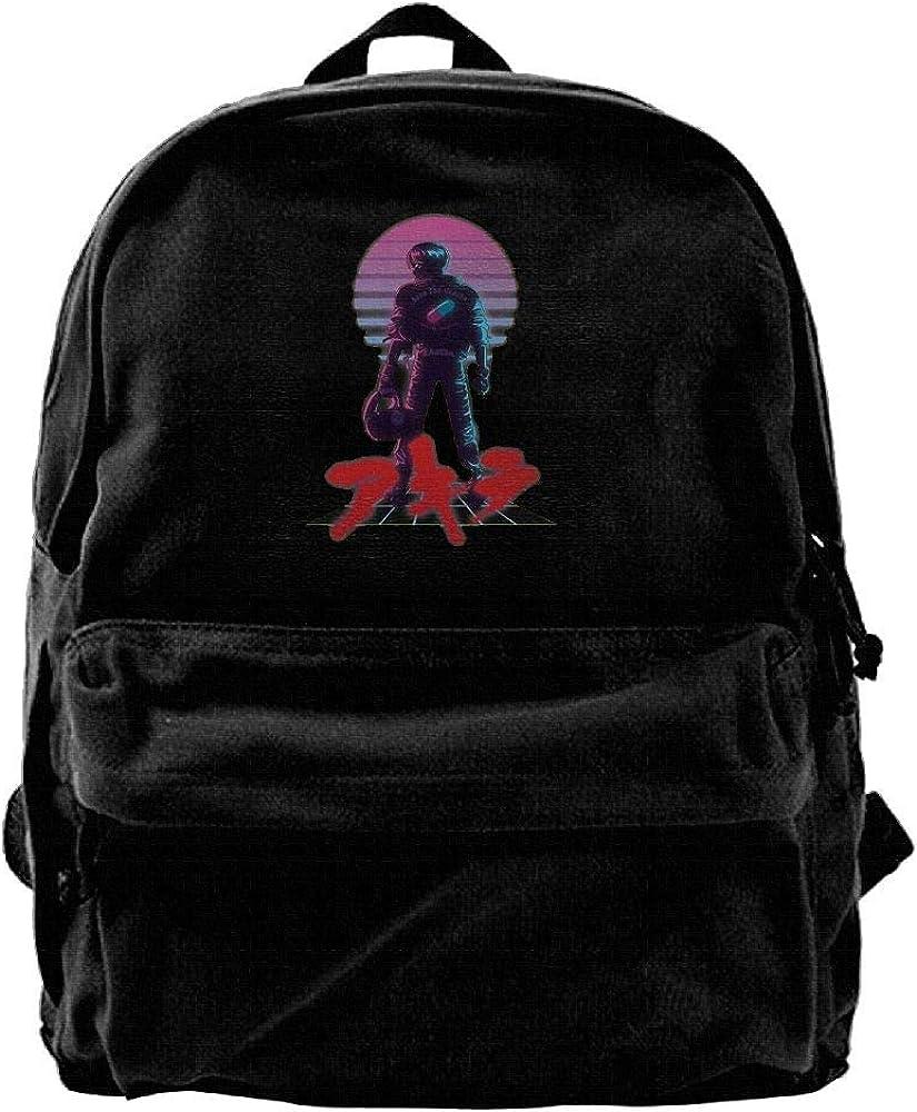 Edward Beck Canvas Backpack Akira – 80 s Inspired Kaneda Fashion Classic Style Black
