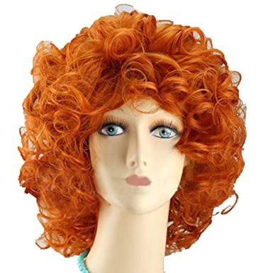 Brave Merida Wig Princess Cosplay Adult Short Curly Orange Costume Hair Accessories  sc 1 st  Amazon UK & Brave Merida Wig Princess Cosplay Adult Short Curly Orange Costume ...