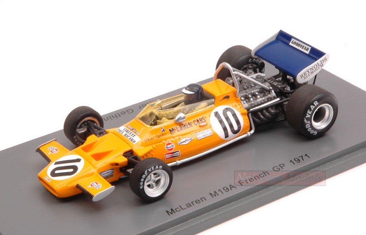 Spark Model S5390 MC Laren M19A P.GETHIN 1971 N.10 9th French GP 1:43 DIE CAST