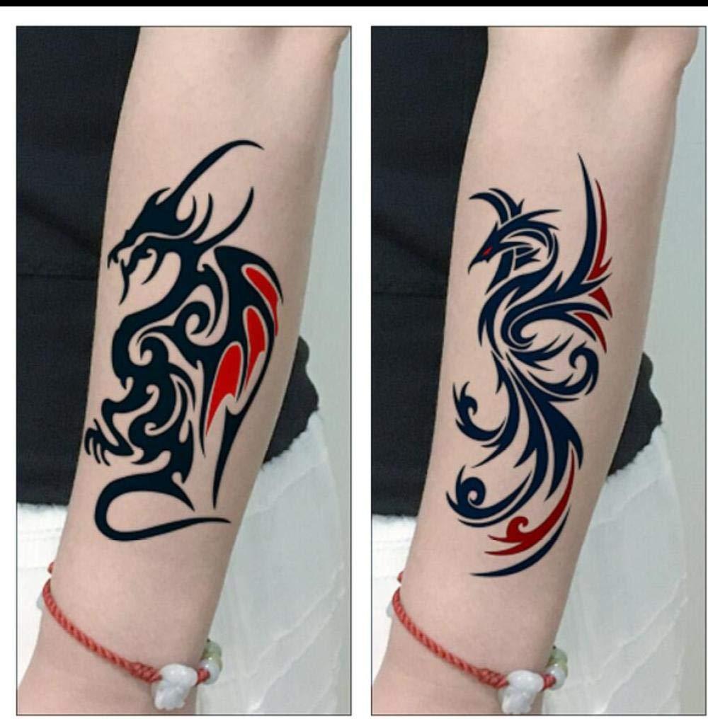 Fuego Dragón Transferencia Temporal Tatuaje Falso Pegatinas ...