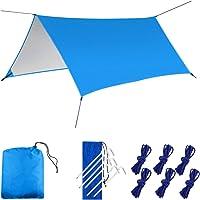 Hangmat Regen Fly Tent Tarp, LAMA [3m x 3m] Hangmat Tent Tarp Waterdicht Winddicht Sneeuwdicht Camping Shelter Draagbare…
