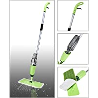 Smile Mom Quick and Easy Aluminium Spray Mop with Best 360 Degree Floor Cleaning for Home and Office (Green)