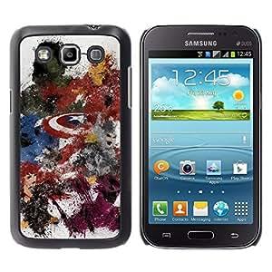 Samsung Galaxy Win / i8550 / i8552 / Grand Quattro , Radio-Star - Cáscara Funda Case Caso De Plástico (Avenge Superhero Painting)