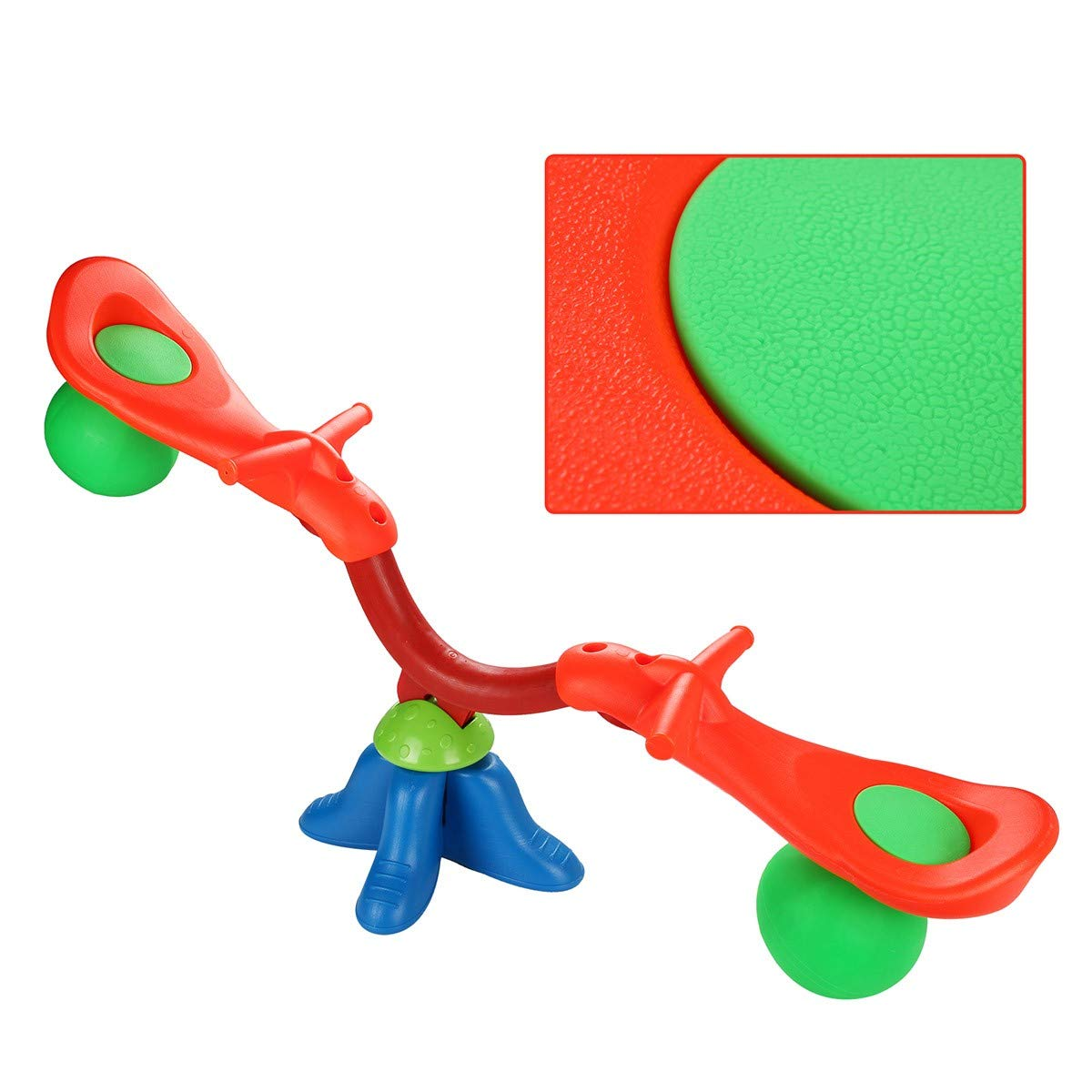 Kids Seesaw 360 Degree Spinning Teeter Totter Bouncer Bright and Cheerful Color Easy-Grip Handles by EnjoyShop (Image #4)