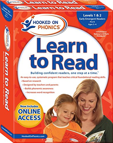 Hooked on Phonics Learn to Read - Levels 1&2 Complete: Early Emergent Readers (Pre-K | Ages 3-4) (Learn to Read Complete - Sets Emergent Readers