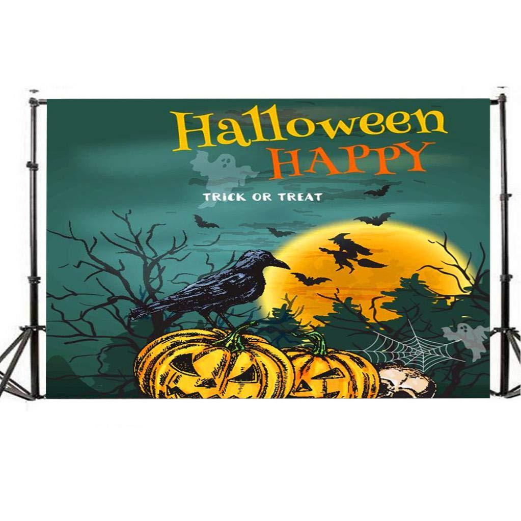 ... fondos Halloween madera fondo de la foto niños luna, fantasma árbol de calabaza de madera suelo Halloween fondo para fiesta de bebé foto fondo de ...