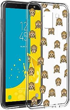 Eouine Funda Samsung Galaxy J6 2018, Cárcasa Silicona 3D Transparente con Dibujos Diseño Suave Gel TPU [Antigolpes] de Protector Fundas para Movil Samsung J6 2018-5,6 Pulgadas (Mono): Amazon.es: Electrónica