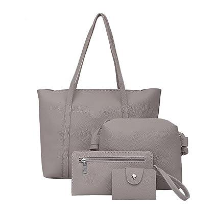 0e85247e9f02 Birdfly Women 4pcs Set Handbag Shoulder Bags Four Pieces Tote Bag ...