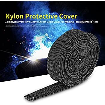 Nylon Protective Sleeve Sheath Cable Cover Welding Tig Torch Hydraulic Hose 7.5M