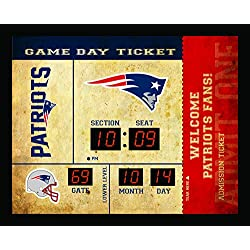 Team Sports America New England Patriots Bluetooth Scoreboard Wall Clock