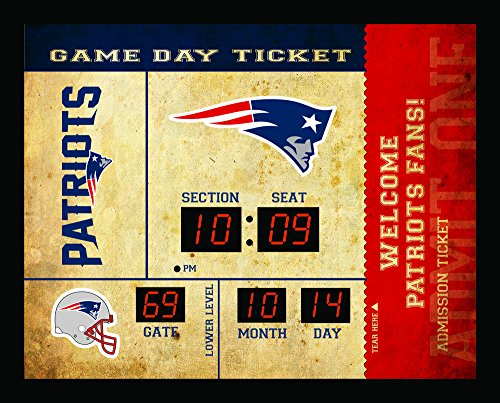 Team Sports America New England Patriots Bluetooth Scoreboard Wall Clock