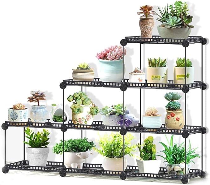 Jardinería Creativa De Hierro Forjado De Flores Carnosas Rack ...