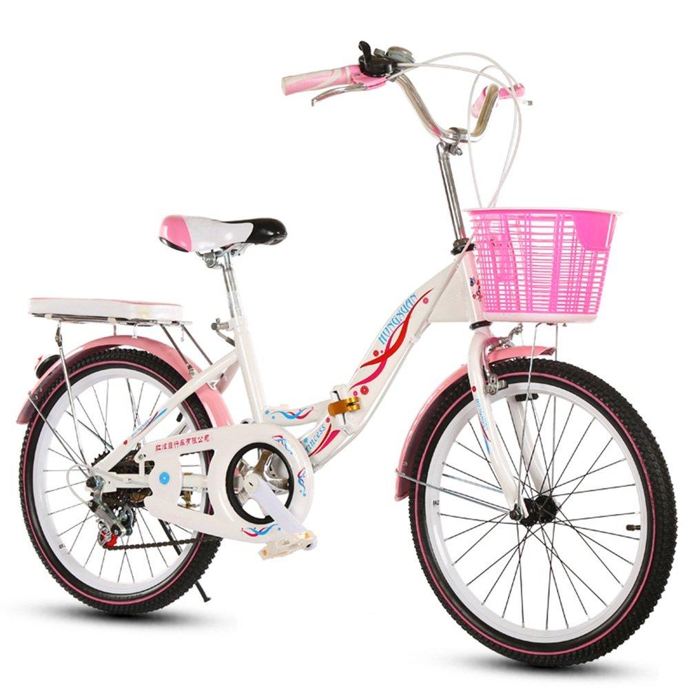 美しい 家子供用自転車、6-8-10-14赤ちゃんのベビーカー20/22インチの女の子可変速度/折り畳み式小学校の女性の自転車 (色 : Black tire, サイズ さいず : 22 inches) B07D1NPB2W 22 inches|Black tire Black tire 22 inches