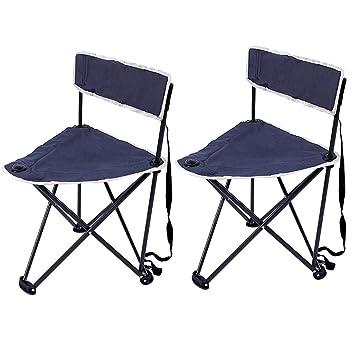 Xia Xia Set de 2 sillas Plegables de Taburete portátil al ...