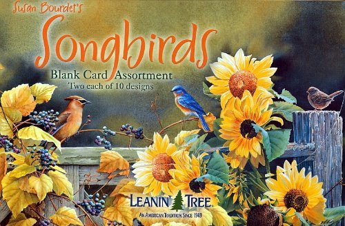 LEANIN' TREE ★ 20 PACK DESIGN BLANK CARDS ASSORTMENT ★ SONGBIRDS ★ MADE in USA ()