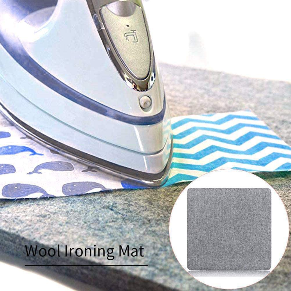 basku Wool Ironing Mat Wool Pressing Mat for Quilting Portable Wool Pressing Pad Sewing Ironing Pad Perfect Ironing Station for Quilting! 10x10 inch 12x18 Inch