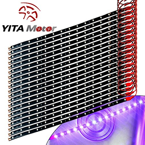 YITAMOTOR 20x 12V Car Motorcycle 30CM 15SMD LED Waterproof Pink Flexible Light Strip (Car Lights Pink compare prices)