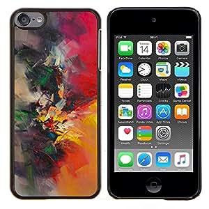 Pintura de la acuarela del pintor Naturaleza Pincel- Metal de aluminio y de plástico duro Caja del teléfono - Negro - iPod Touch 6