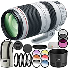 Canon EF 100-400mm f/4.5-5.6L IS II USM Lens 11PC Filter Kit. Includes Canon EF 100-400mm f/4.5-5.6L IS II USM Lens + 3PC Filter Kit (UV-CPL-FLD) + 4PC Macro Filter Set (+1,+2,+4,+10) + 6PC Graduated Filter Kit + More - International Version (No Warranty)