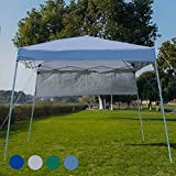 Sundale Outdoor 8 x 8 FT Heavy Duty Pop Up Canopy Waterproof UV-Protected Gazebo Portable Instant Shade Folding Shelter Patio Wedding Party Tent with Carrying Bag (Silver White)