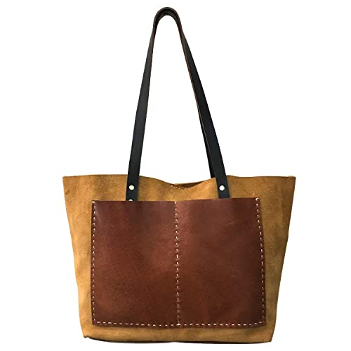 Suede Leather Bag Leather Tote Women
