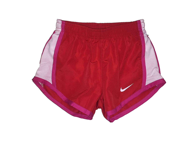 Nike Girl`s Tempo Shorts (University Red(267358-U10)/White, 3T)