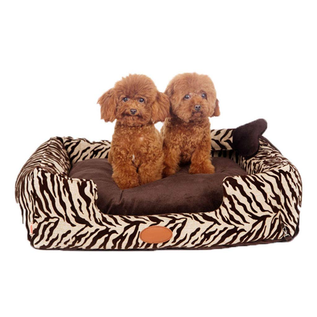 Pet Bed Washable Soft Deluxe Plush Comfy Cat Dog Bed Waterloo Removable Cushion 90  75  22m CHENGYI