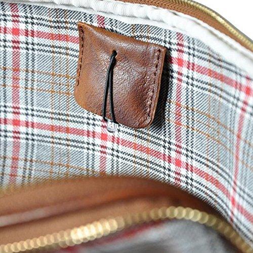 Pratesi Magliano Italienisch Alter Leder Zip Top Aktentasche - Blau