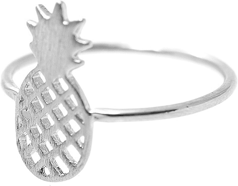 chelseachicNYC Handmade Brush Metal Pineapple Fruit Ring