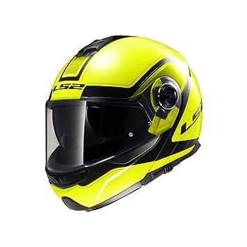 LS2 503252054XS FF325 Casco Strobe Civik, Color Hi/Vis Amarillo/Negro, Tamaño