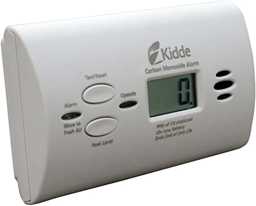 Kidde 21008873-4 KN-COPP-B-LPM Battery-Operated Carbon Monoxide Alarm with Digital Display, 4 Pack