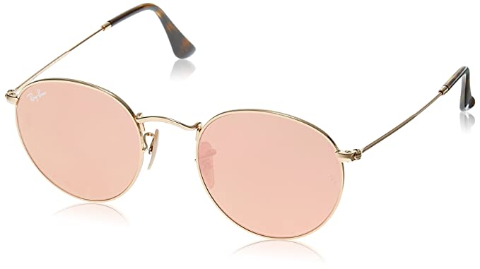 ray-ban round metal frame unisex sunglasses