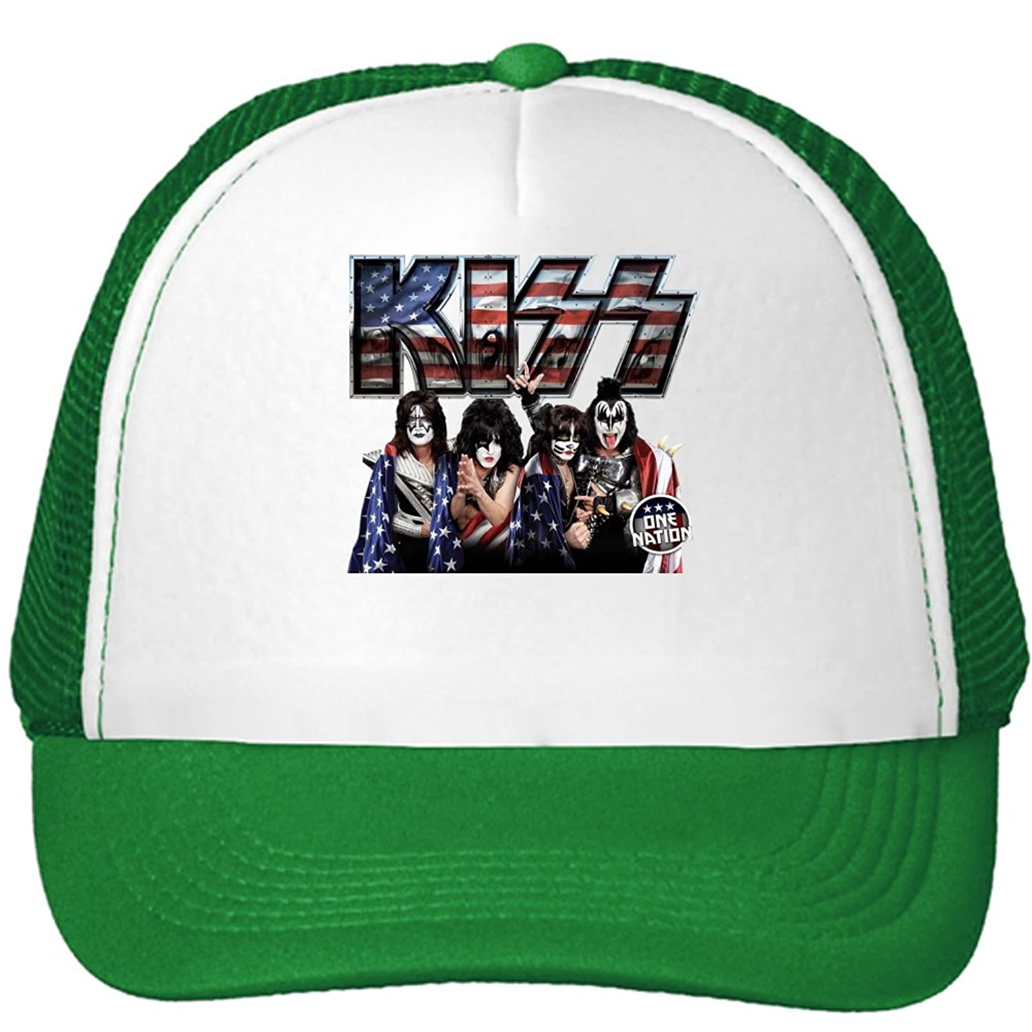 KISS Band One Nation Mesh Snapback Trucker Hats Caps