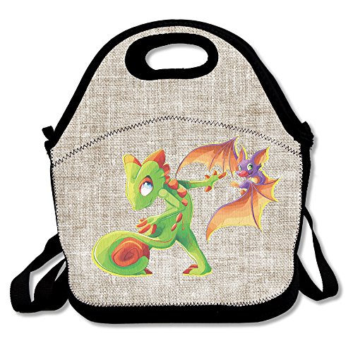 Amurder Video Game Yooka Laylee Insulated Personalized Tote Lunch Food Bag Black (Brutus The Bulldog Black compare prices)