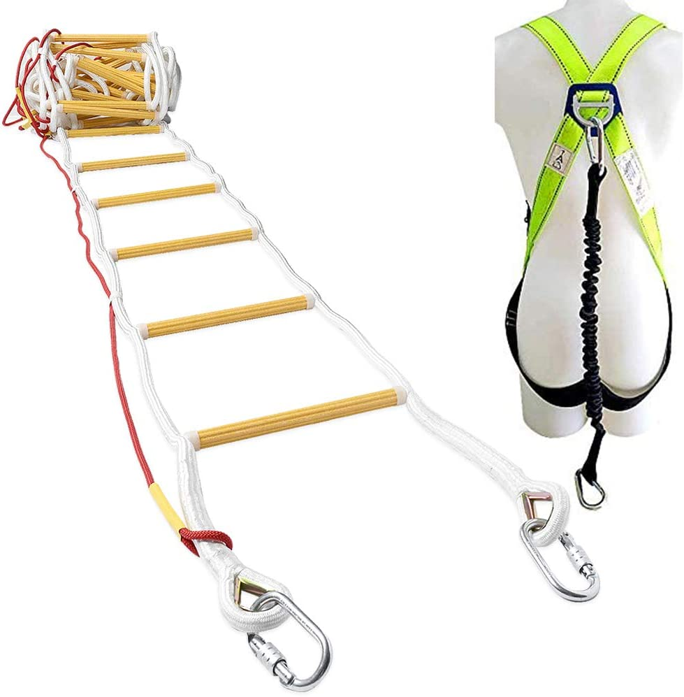 ZPL Escape Rope Ladder Emergency Fire Escape Ladders Child Safety Ladder Nylon Rope Safety Soft Ladder Fire Escape Rope Ladders for Homes