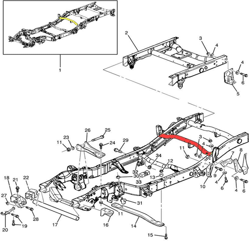 Hildirix Front Fuel Tank Support Crossmember Fit for 96-16 Chevy Silverado//GMC Sierra 1500 2500 3500 HD