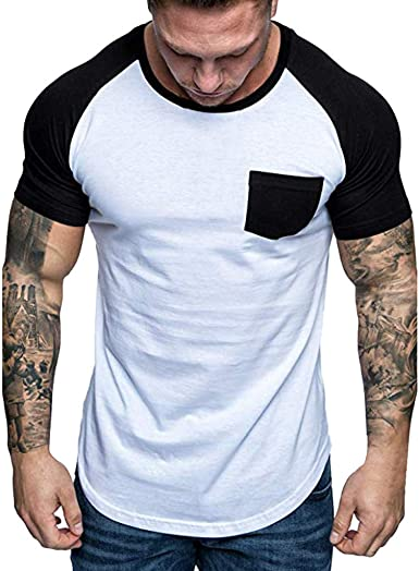 COOFANDY Mens Short Sleeve Hip Hop Holes Ripped Casual Hooded Fashion Summer T-Shirt
