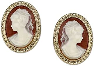 product image for 1928 Jewelry Womens Gold Tone Simulated Cameo Stud Vintage Earrings
