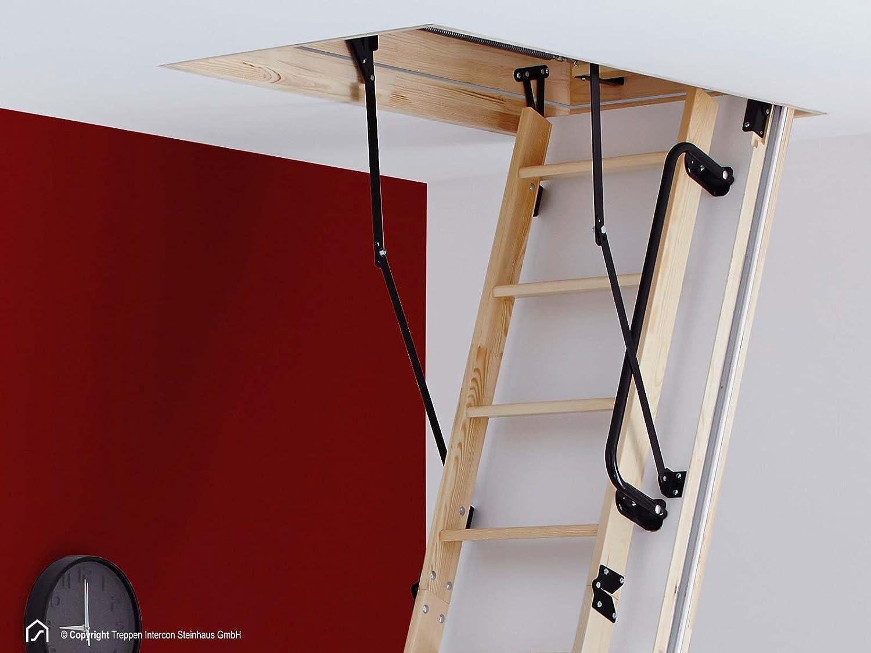 113 x 70 cm Intercon/® Select Bodentreppe 6 Ma/ße mit W/ärmeschutzd/ämmung U-Wert 0,63