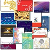 All-Occasion Greeting Card Assortment #2. A Variety Box Set of 30 Cards and Envelopes for Most Common Sending Situations: Birthday, Anniversary, Congratulations, Get Well, Sympathy, Thank You and Welcome. Ideal for Both Personal or Business Use. Your Satisfaction Is Guaranteed.