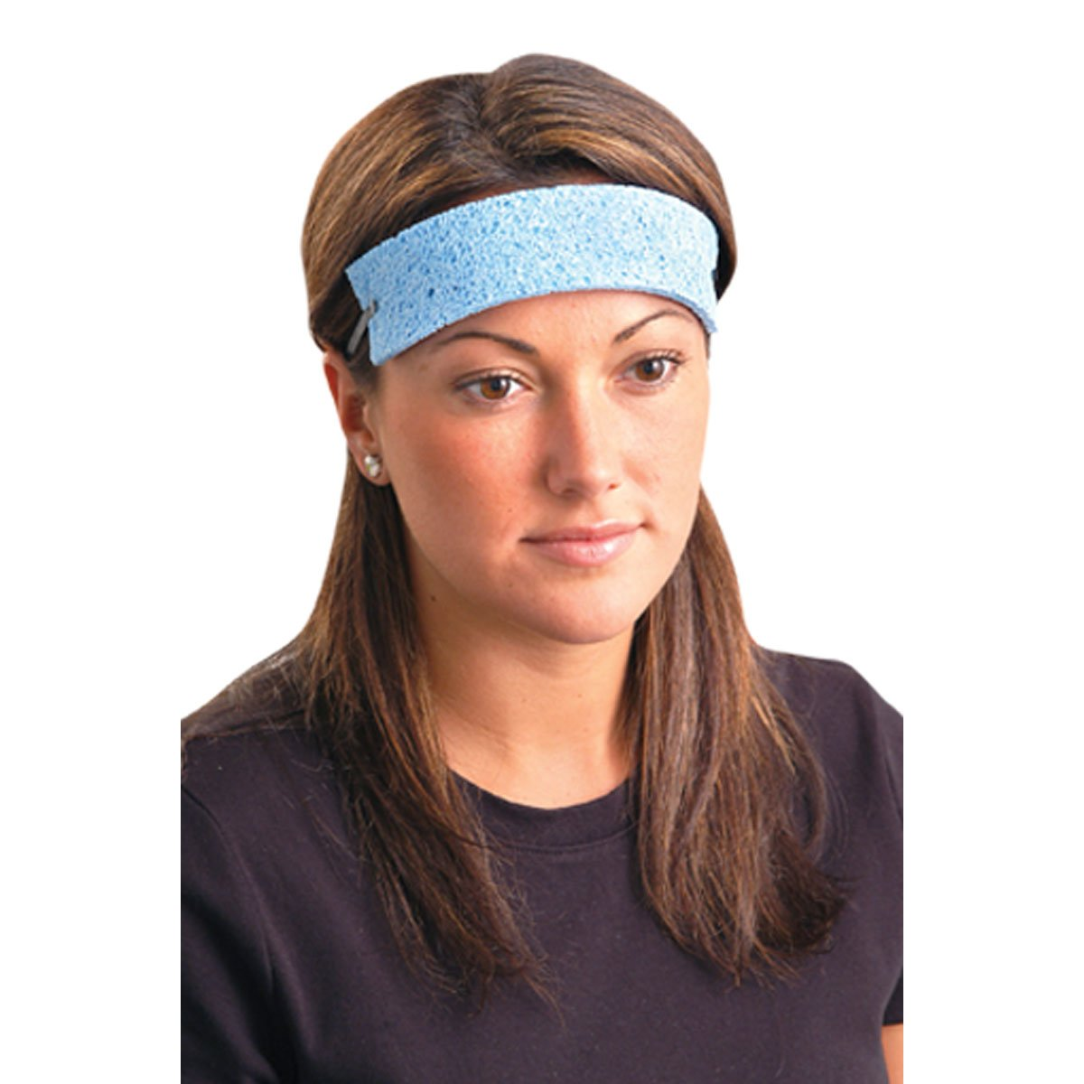 Traditional Absorbent Cellulose Disposable Cooling Sweatbands - 50 Pack