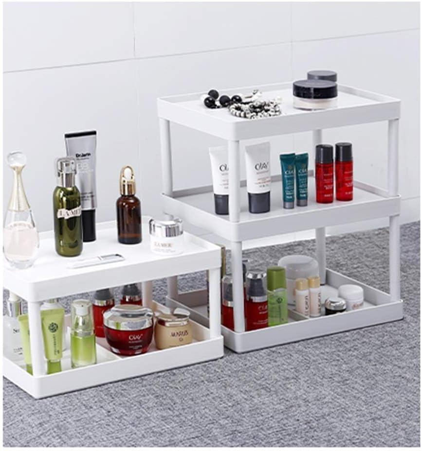 Grato per tutto Rack di stoccaggio Desktop Multi-Strato Cucina Bagno Controsoffitto Rack di stoccaggio Cosmetici Rack di stoccaggio Semplice (Color : White) White