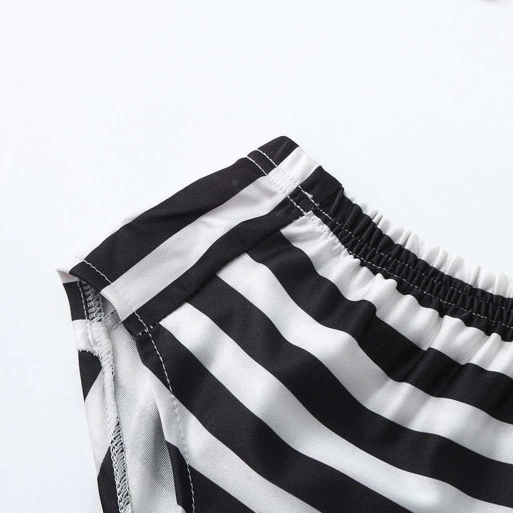 Baby Girl Bikini Striped Beach Swimsuit Ruffles Bathing Suit Swimwear Two Piece Set Summer Swimsuits