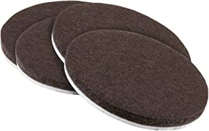 softtouch 4218495N Heavy Duty 1-1/4 Inch Felt Furniture Pads to Protect Hardwood Floors from Scratches, Brown, 4 Count