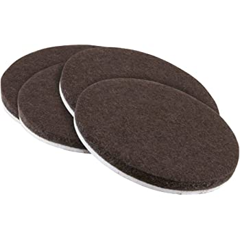 Self Stick Furniture Round Felt Pads For Hard Surfaces